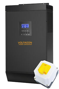 VOLTACON 3000W 24V MPPT off grid solar inverter 60A Solar charger with DC-Switch