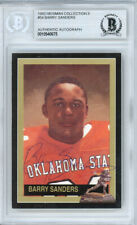 Barry Sanders Autographed 1992 Heisman Collection Card State Beckett 10540675