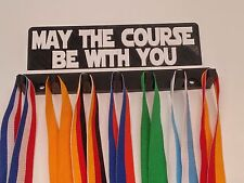 """Plastic 8"""" May the Course Be With You All Sports Medal Rack Medal Hanger Medal"""