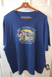 Nautica Jeans Co Men XXL 2XL 2X Tee T Shirt Sea Maiden Inn Sailors Mermaid Blue
