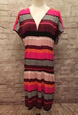 New WISP Stitch Fix  Jennipher Romper XXL Multi Color Pink Orange Stripe Stretch