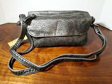 Womens BLACK Purse BUENO COLLECTION Crossbody Bag Faux Leather Handbag