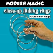 Linking Rings 4 inch Mini Chinese Set Of Four Steel Chrome Classic Magic Trick