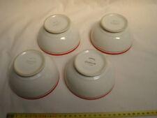 bols en porcelaine rouge de Longchamp (lot de 4) bon état (réf O 52)