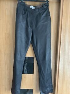 Adriano Leather Trousers Size 12