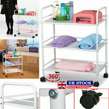 Large 3 Shelf Salon Beauty Trolley Cart Spa Storage Dentist Wax Treatments Home