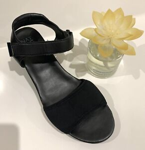 NATURALIZER Mid-height Wedge Heel Sandals - Black - Size 8.5 - Super Comfy! EUC