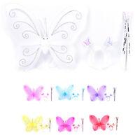 3pcs/set fille fée princesse Noël costume papillon baguette bandeau  I