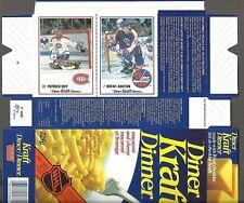 1989-90 Kraft Dinner Box Flat, Canadiens' Patrick Roy, Jets' Brent Ashton