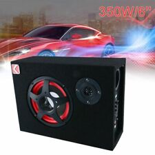 6'' Under-Seat Car Speaker Active Subwoofer Powered Stereo Bass Audio Slim 350W