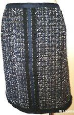 Tory Burch Navy Tweed Anabella Skirt Size 14