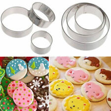 3PCS Stainless Round Circle Cake Cookies Fondant Cutter Gum Paste Baking Mould