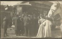 Mankato MN 1st Trolley - Trolley Day c1910 Real Photo Postcard