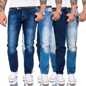 Herren Jeans Hose Comfort Fit Jeans Hosen Blau Männer Jeans Denim W29-W46 NEU