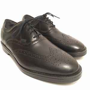 RED WING 8630 SIZE 10 D BLACK LEATHER WING TIP OXFORDS DRESS SHOES