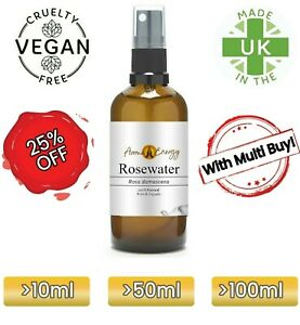ROSE WATER Spray - Rosewater Organic Spray - 100% Pure & Natural - High Quality