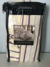 J. Queen New York Wisteria European Euro Pillow Sham Cream Purple Mauve