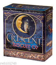 Crescent Biscuit FOOD SAFE TIN Moon Owl vintage wiccan prim rustic kitchen decor