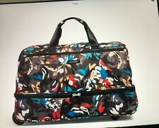 Vera Bradley Splash Floral Factory Style Lighten Up Wheeled Carry on NWT