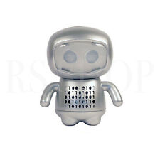 Musibytes eBOT Robot Portable Mini Travel Speakers Silver iPhone Mobile Laptop