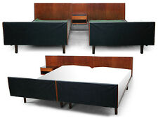 70s retro vintage DANISH HANS WEGNER GETAMA TEAK SINGLE TWIN SUPER KINGSIZE BED