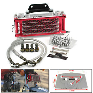 Aluminum Oil Cooler Radiator System For 50 70 90 110CC Dirt Pit Bike Motorcycle