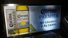 Corona Premier Beer Motion Moving Illuminated Led Light Up Sign New