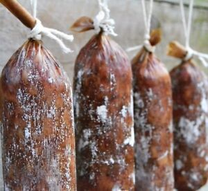 Pack 10 Collagen Casing for Salami,Smoked Sausage,Chorizo Pepperoni,Cured 45mm