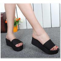 Woman Platform Slippers Wedge Summer Shoes Bath Beach Flip Flops High Heel Wears
