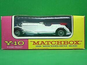 Matchbox Yesteryear Y10-2 1928 Mercedes-Benz 36/220 In Type 'F' Box