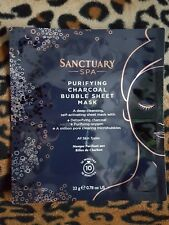 Sanctuary Spa CLEANSE Purifying Charcoal Bubble Sheet Mask cleanses in 10 mins!