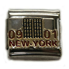 New York Twin Towers Italian Link Bracelet Charm
