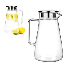 Wasserkrug mit Edelstahl Filter Glaskrug Krug Kanne Wasserkaraffe Glas 1500ml