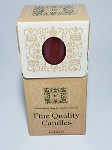 """Williamsburg Soap And Candle Company 3""""×6"""" Cinnamon Scented Pillar Candle"""
