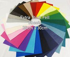 3-4mm extra gruesa de fieltro de poliéster Color Liso Craft Bolso Fieltro Hojas De 25cm X 30cm