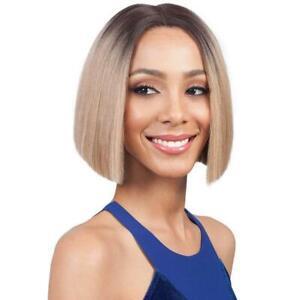 Bobbi Boss Premium Synthetic Straight Short Hair Lace Front Wig- MLF178 Xenon