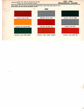 1946 1947 1948 1949 1950 1951 TO 1955 REO TRUCKS PAINT CHIPS 5154 DITZLER 2 9PC