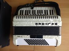 Akkordeon accordion WALTHER PIRAT 72 Bass, 7/2 Registertasten, Koffer, opt. top