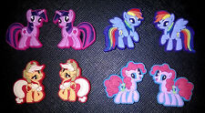 8 x My Little Pony Croc Shoe Charms Jibbitz Crocs Accessories Wristbands