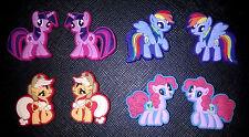 8 x My Little Pony Croc Shoe Charms Jibbitz Crocs Accessories Wristbands
