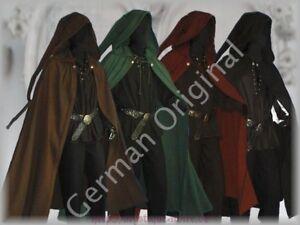 orig.German Medieval Cloak Long Pointed Hood Rennaisance SCA Larp Wicca Beltane