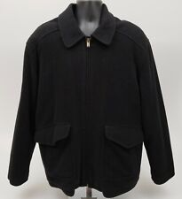 Columbia Men's Wool Jacket Size XL Heavy Coat Black
