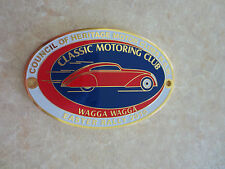 Wagga Wagga Classic Motor Club car badge for Ford Chev Holden Austin Morris MG