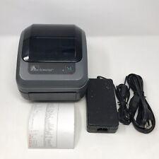 Zebra GX420D GX42-200310-000 Thermal Label Printer USB Parallel w/ Power Supply