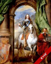 KING CHARLES I 1ST OF ENGLAND IN ARMOR PAINTING HISTORY ART REAL CANVAS PRINT