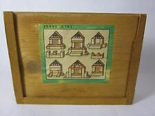 Wood Block Puzzle With Box Germany Early 1900s House