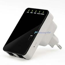 EU Plug Wifi 300Mbps 802.11b/g/n Mini wi-fi 5 in 1 Repeater Wireless Router DHC