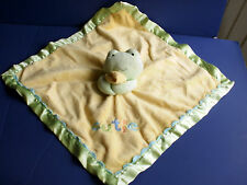 Just One Year~Plush CUTIE Green & Yellow FROG  Lovey~So Adorable!!
