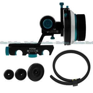 Upgrade Fotga DP500IIS QR Follow Focus A/B Hard Stop for 15mm rod 5DII III +Gear