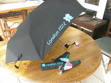 London Olympic 2012 Black Compact Folding Umbrella John Lewis Stock